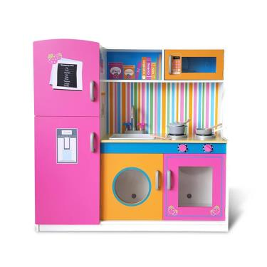 Kikimmy 紐約午茶木製廚房玩具組-附配件6件(廠)
