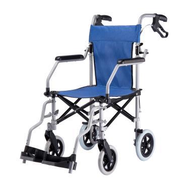 Lohas Air 外銷日本樂活椅/小輪款輕量鋁合金/可拆腳/最小收摺/僅8.7KG/藍色-贈托輪包 廠送