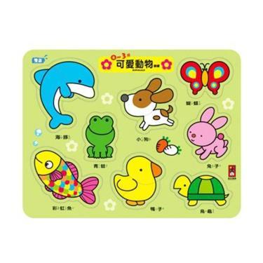 FOOD超人 0~3歲可愛動物拼板