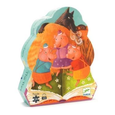 法國 DJECO智荷 拼圖屋 三隻小豬