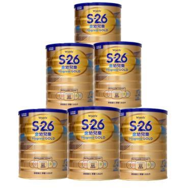 惠氏 S-26 金幼兒樂幼兒成長配方奶粉1-3歲(1600gx6罐)