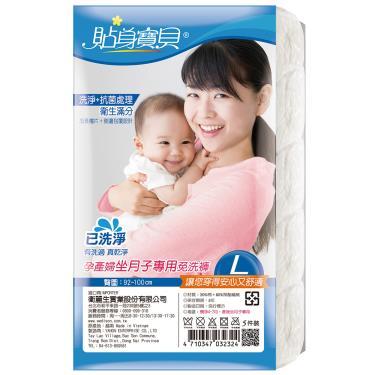 貼身寶貝 孕產婦坐月子專用免洗褲5件/包- L