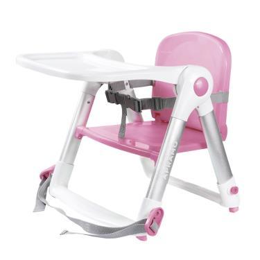 英國Apramo QTI Flippa  可攜式兩用兒童餐椅(簡易提袋+坐墊)-糖果粉