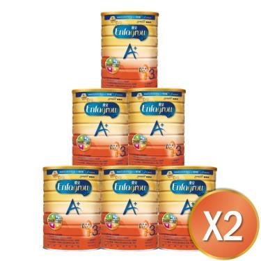 (送溜滑梯)美強生 優兒A+ 1~3歲幼兒成長奶粉 1700gx12罐
