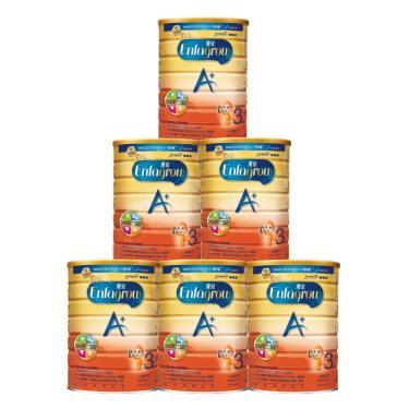 (送置物架)美強生 優兒A+ 1~3歲幼兒成長奶粉 1700gx6罐