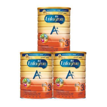 (送收納箱)美強生 優兒A+ 1~3歲幼兒成長奶粉 1700gx3罐