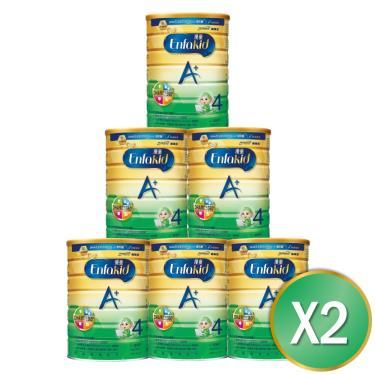 (送溜滑梯)美強生 優童A+兒童營養奶粉1.7kgx12罐