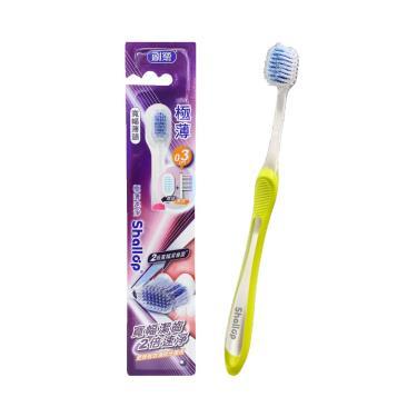 刷樂 極薄速淨牙刷1入(顏色隨機)