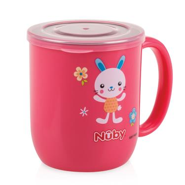 Nuby 不鏽鋼喝水杯-粉色