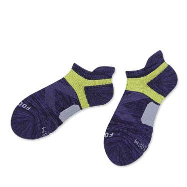 footer除臭襪 繽紛花紗輕壓力足弓船短女襪紫(T108M)