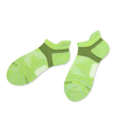 footer除臭襪 繽紛花紗輕壓力足弓船短女襪綠(T108M)