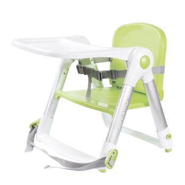 英國Apramo QTI Flippa 可攜式兩用兒童餐椅(贈簡易提袋+坐墊)-糖果綠