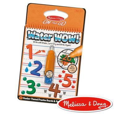 美國瑪莉莎 Melissa & Doug 神奇水畫冊 數字學習1-20