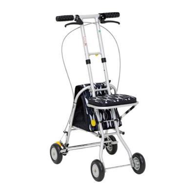 日本幸和TacaoF 輕巧步行車 助行椅 散步車(黑北歐風) 廠送