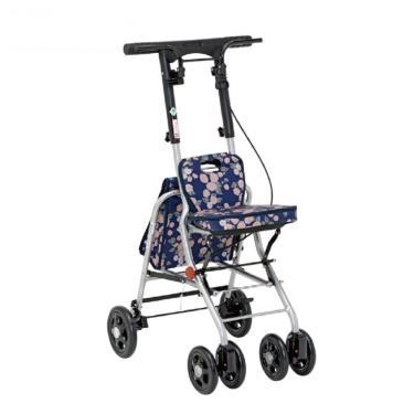 日本幸和TacaoF 輕巧步行車 助行椅 散步車(花樣海軍藍) 廠送