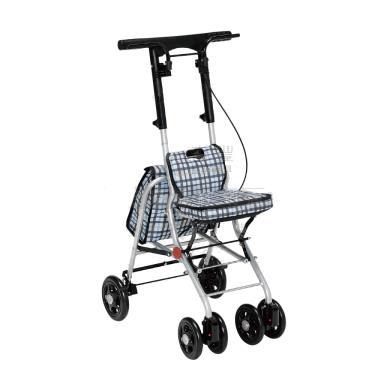 日本幸和TacaoF 輕巧步行車R121 帶輪型助步車/助行椅/散步車(條紋黑) 廠送