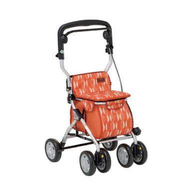 日本幸和TacaoF中型步行車R122 帶輪型助步車/助行椅/散步車(橘北歐風) 廠送