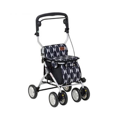 日本幸和TacaoF中型步行車R122 帶輪型助步車/助行椅/散步車(黑北歐風) 廠送