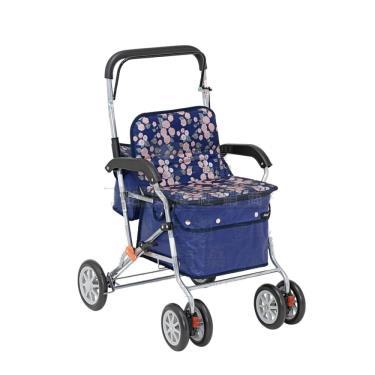 日本幸和TacaoF標準型步行車R129 助行椅 散步車(花樣海軍藍) 廠送