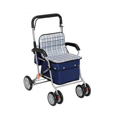 日本幸和TacaoF標準型步行車R129 助行椅 散步車(條紋黑) 廠送