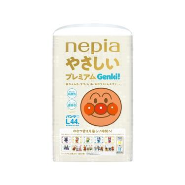 日本 王子 Genki  麵包超人褲型紙尿褲/拉拉褲(L44片x3包/箱)-廠送