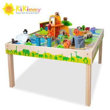 kikimmy 動物城市木製遊戲桌木製玩具- 附52配件(廠)