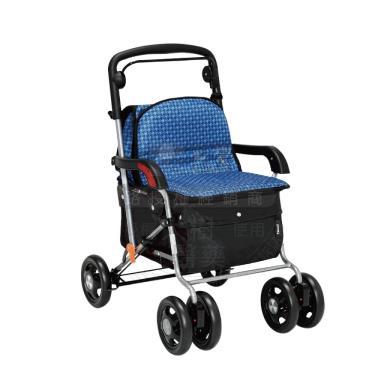 日本幸和TacaoF 標準扶手型步行車 助行椅 散步車(水藍) 廠送