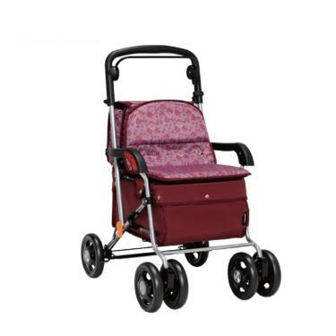 日本幸和TacaoF 標準扶手型步行車 助行椅 散步車(酒紅) 廠送
