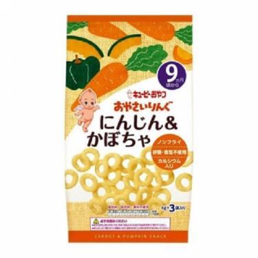KEWPIE 寶寶菓子圈圈-南瓜胡蘿蔔(4g*3/包)