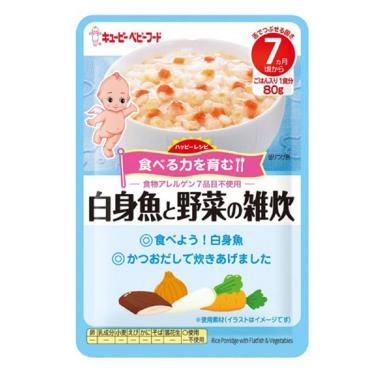 KEWPIE 隨行包蔬菜比目魚粥(80g/包)