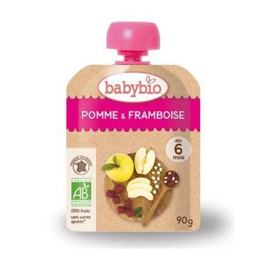 BABYBIO 有機蘋果覆盆莓纖果泥(90g/包)