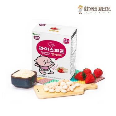 韓爸田園日記 米球餅-草莓優格