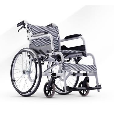 康揚karma 鋁合金 背可折經濟型輪椅 飛揚105(灰黑格) 輪椅B款補助 (廠送)
