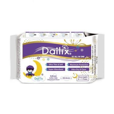 Dailix 抑菌抗敏淨味超乾爽透氣衛生棉-加長夜用(吸血鬼娃娃版)  7片/包