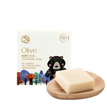 歐米綠 橄欖沐浴皂-100g (中性、油性、混合性肌膚適用)