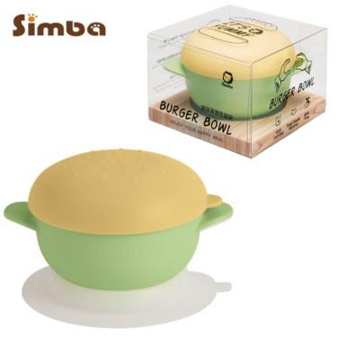小獅王辛巴 美味漢堡碗吸盤碗 青檸桔事堡(綠)