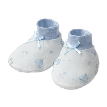 Baby City 娃娃城 天絲棉腳套 玩具熊-藍