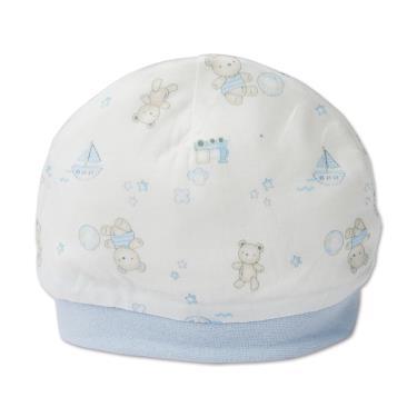 Baby City 娃娃城 天絲棉初生帽 玩具熊-藍
