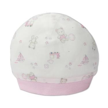 Baby City 娃娃城 天絲棉初生帽 玩具熊-粉