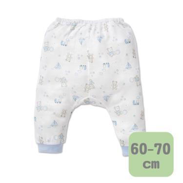 Baby City 娃娃城 天絲棉初生褲 玩具熊(藍 60-70cm)
