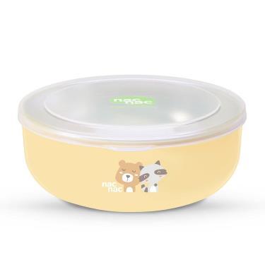NAC NAC-不銹鋼雙層隔熱餐碗-350ml-黃