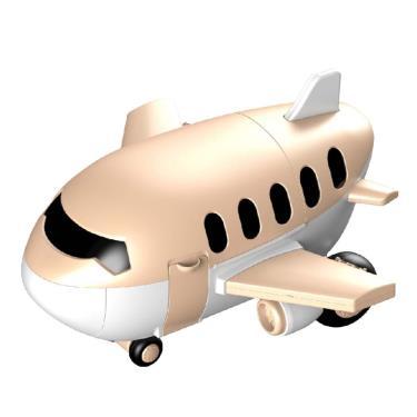 Kikimmy 多功能飛機收納玩具組 甜點款