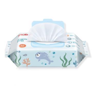 NUBY 海洋系列極厚柔濕巾(60抽x4包/串)