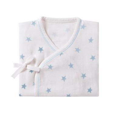 小獅王辛巴 極柔感印花紗布反袖肚衣60cm-好自藍