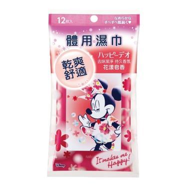 日本 MANDOM 米妮款體用濕巾-花漾皂香 12張/包
