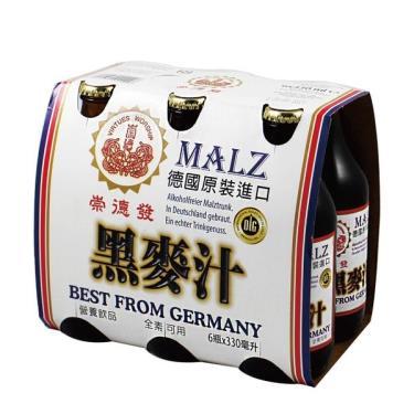 崇德發 黑麥汁330ml*6瓶 (玻璃瓶)