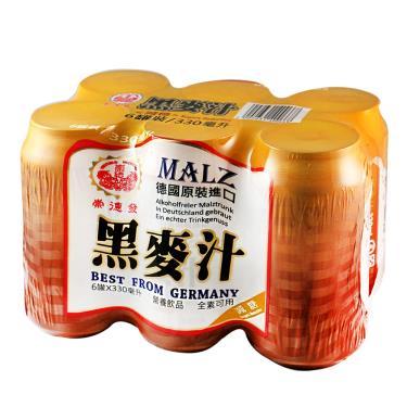 崇德發 減糖黑麥汁330ml*6瓶 /組(易拉罐)