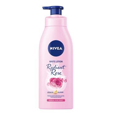 NIVEA 妮維雅 粉嫩嫩潤白水凝乳-玫瑰香氛350ml/瓶