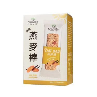 Granola House小麥的家 纖脆燕麥棒-杏仁芝麻(32g*6支/盒)