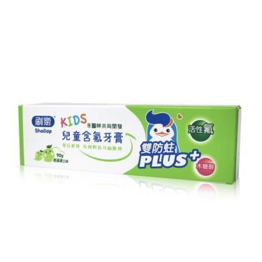 刷樂 兒童含氟牙膏-青蘋果90g
